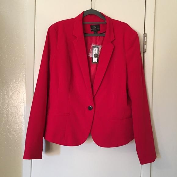 Worthington Jackets & Blazers - Worthington Red Blazer